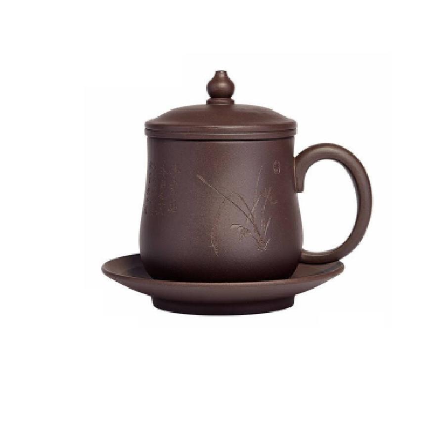 万壶园紫砂茶杯四件套礼盒