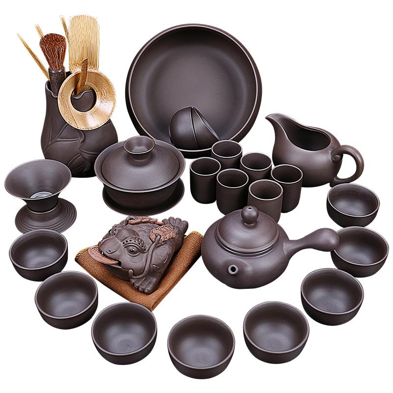 陶福气家用紫砂功夫茶具陶瓷茶壶茶杯茶道礼品茶具套装