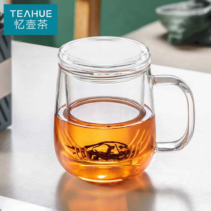 忆壶茶YIHUTEA加厚耐热带过滤玻璃杯500ml