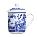 青花瓷茶杯男士高档领导茶杯女泡茶办公室陶瓷个人杯子