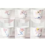 阿特泥功夫茶杯家用白瓷主人杯青花瓷品茗杯陶瓷茶杯6只装