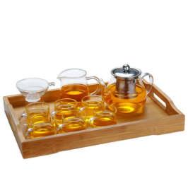 逐简耐热玻璃家用带过滤功夫茶具套装