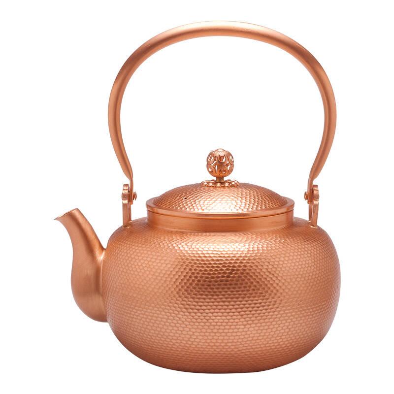 尚铜堂无涂层手工紫铜壶家用泡茶壶