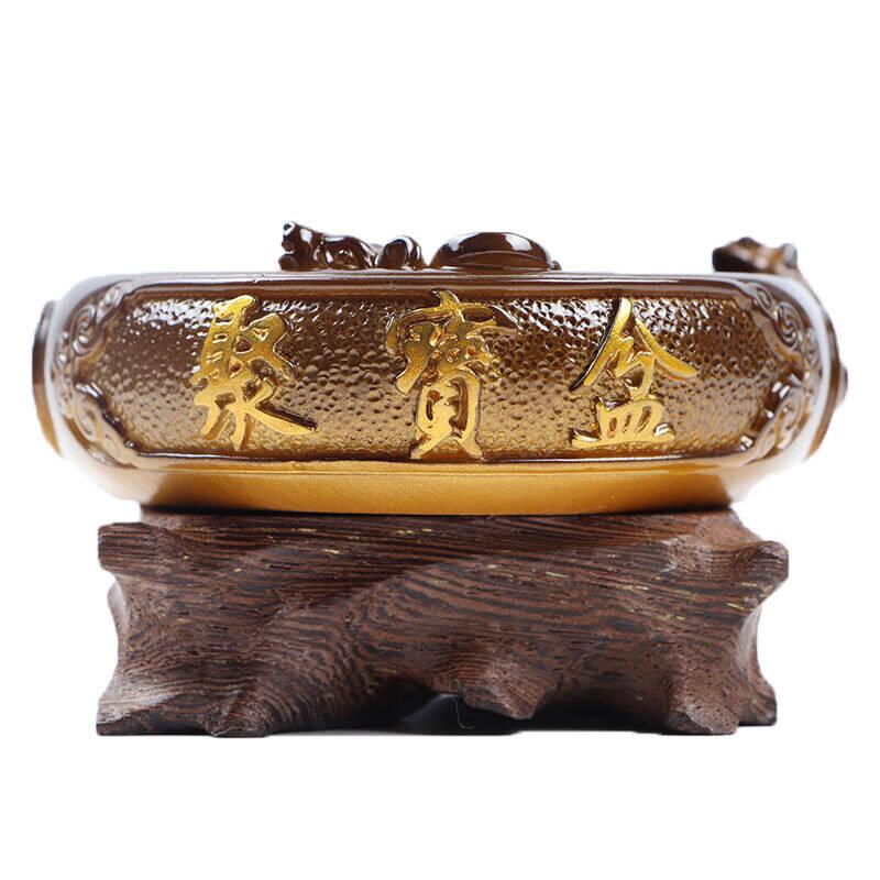 卡丝拉狄可养瑞兽貔貅聚宝盆变色茶宠摆件精品