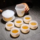 琉璃茶杯玉瓷品茗杯小茶盏日式玻璃主人杯百姓氏单杯茶具