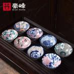 豪峰陶瓷家用品茗杯功夫茶具套装