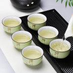 豹霖功夫小茶杯陶瓷茶盏茶碗家用紫砂主人杯青花瓷泡茶品茗杯