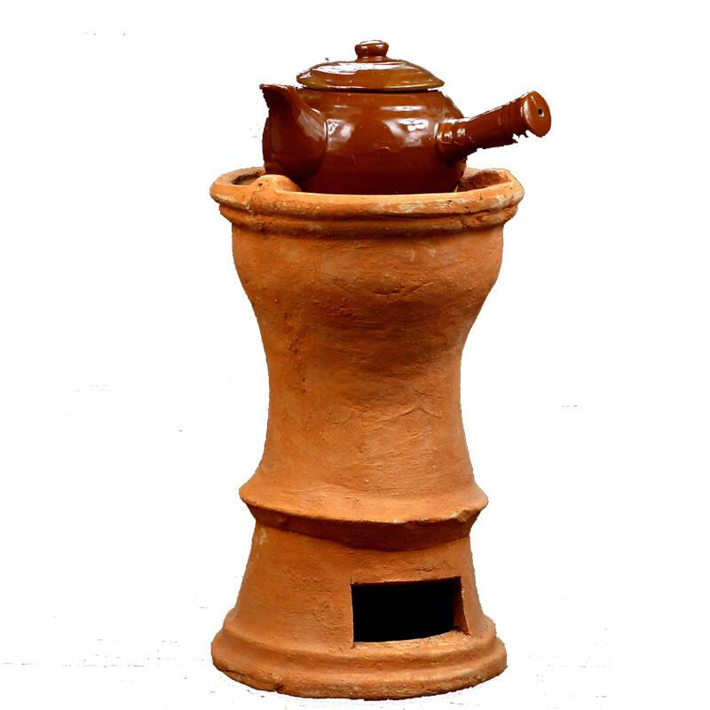 红泥炉茶炉橄榄木碳炉煮茶具零配件
