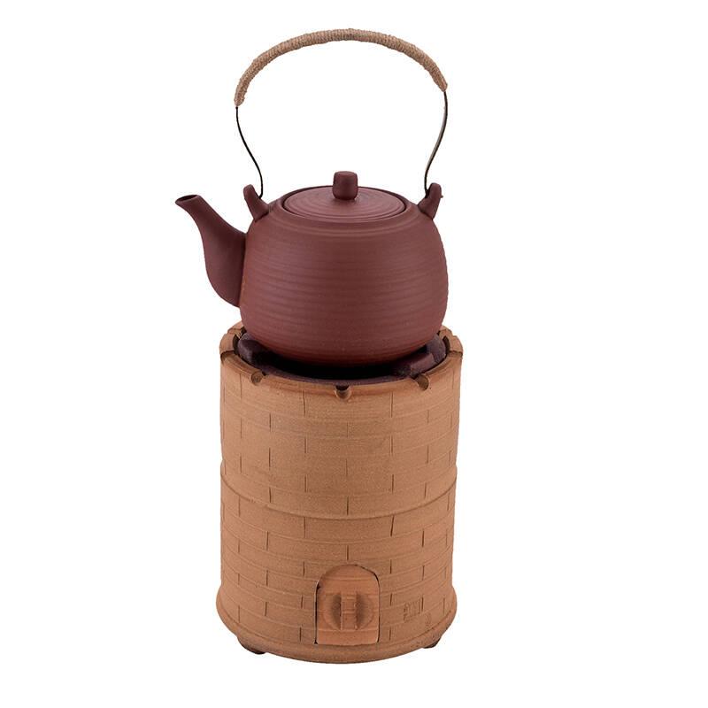 碳炉烧木炭炉泥炉手工复古橄榄炭煮茶器烧炭煮茶炉
