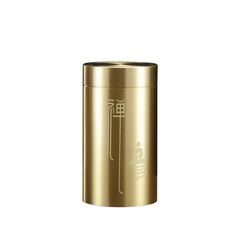 纯铜茶叶罐厚德载物旅行便携茶叶罐茶具零配件
