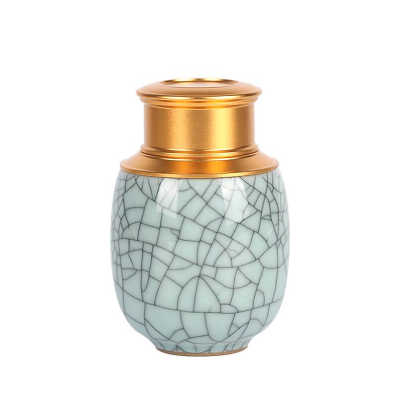 茶适铁皮石斛包装青瓷便携陶瓷茶叶罐