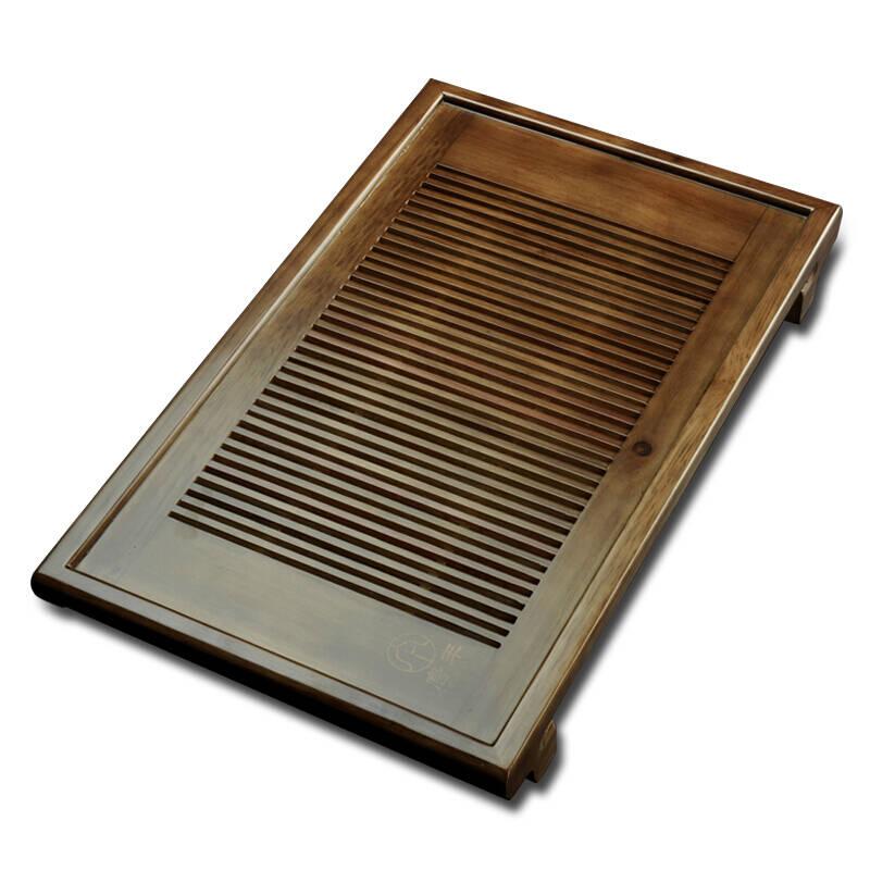 唐丰蓄水接水管双用式典藏棕实木茶托功夫茶具