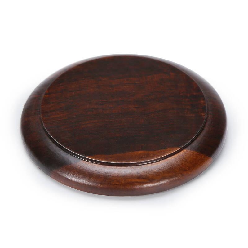 金镶玉树叶杯垫黑檀茶杯垫隔热垫子套组