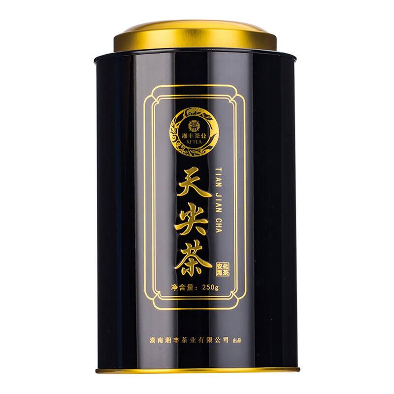 湘丰茶叶湖南安化黑茶天尖茶散茶罐装