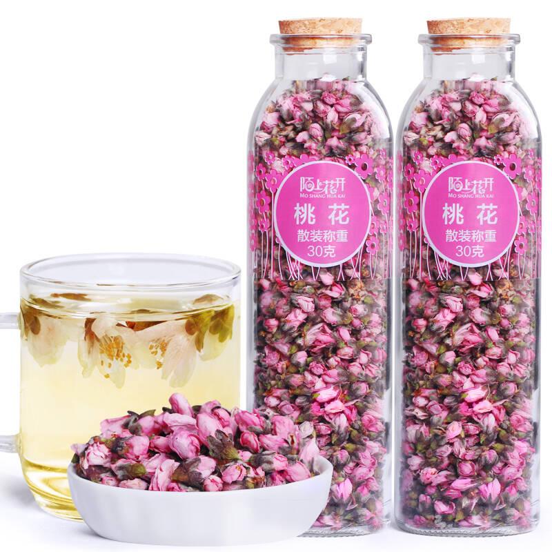 陌上花开桃花干手工挑选无硫桃花蕾新货干花苞初级茶农产品 2罐装
