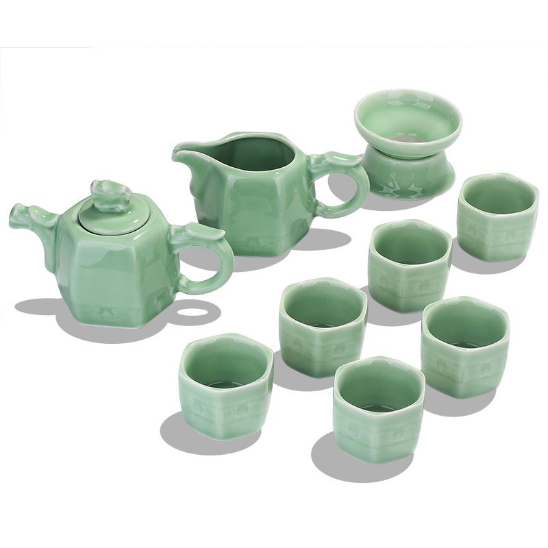 豹霖龙泉陶瓷青瓷家用简约泡茶杯茶壶德化茶艺客厅功夫茶具套装