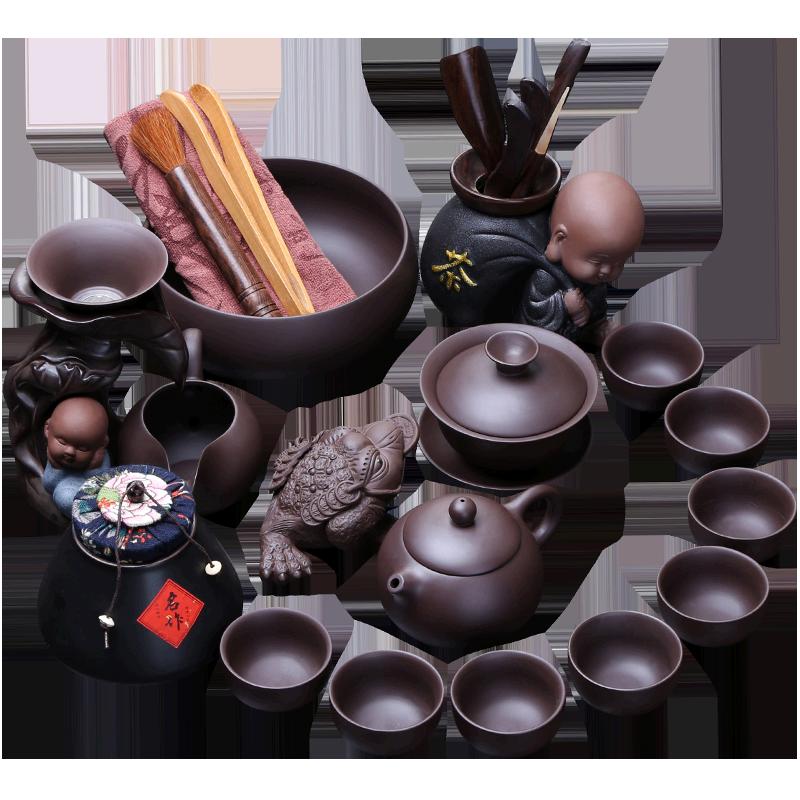 璞器紫砂功夫茶具套装家用客厅会客原矿宜兴整套茶杯泡茶壶礼盒装