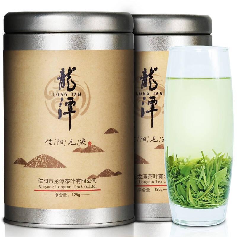 龙潭信阳毛尖 明前特级嫩芽125g铁铁罐茶